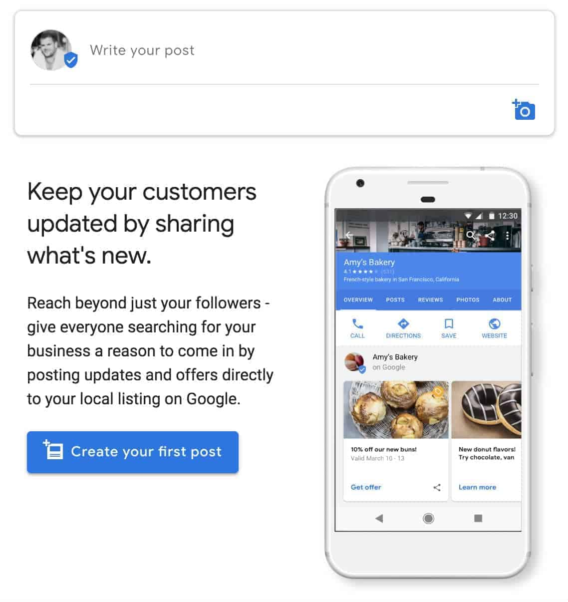 How to write a google my business post